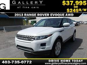 2013 Land Rover Range Rover Evoque AWD $249 Bi-Weekly APPLY NOW