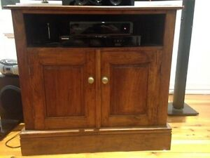 WOOD TV DVD cabinet with storage Carina Brisbane South East Preview