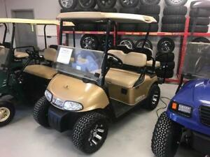 "Save $500 2014 EZGO RXV Golf Cart 48V Gold 20"" Tires"
