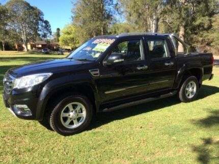 2017 Great Wall Steed LUXURY 4X4 Black Manual Dual Cab Pick-up