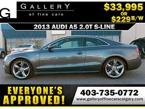 2013 Audi A5 S-LINE QUATTRO $229 bi-weekly APPLY NOW DRIVE NOW