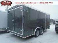 GET MORE FOR LESS 8X16' ENCLOSED CARGO TRAILER - 2016 ATLAS