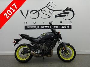 2017 Yamaha FZ 07 - Stock # V2466 - No Payments for 1 Year**