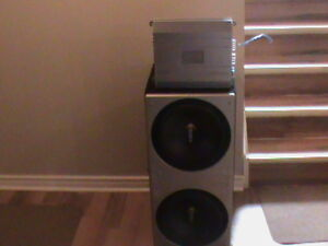 """POWER AMPLIFIER WITH 2 12"""" SUBS"""