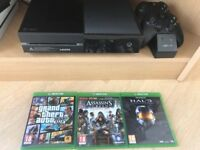 Xbox One with Two Controllers with charger & 4 Games