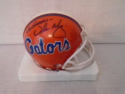 Urban Meyers Signed Florida Gators Riddell Mini Helmet Ohio State