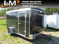 NEW 6X12 STEALTH ROUND TOP CARGO TRAILER- EXTRA HEIGHT