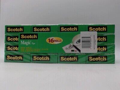 Scotch Magic Tape, 3/4 x 1000 Inches 16 Rolls 810