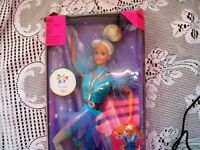 1997 OLYMPIC USA SPINNING SKATER BARBIE/KEN DOLL MEDAL IN BOX