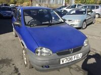 Cheap car of the day Vauxhall Corsa 1 litre, starts and drives, MOT until January 2017, car located