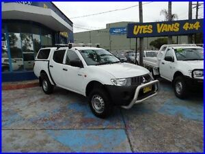 2008 Mitsubishi Triton ML MY09 GLX White 5 Speed Manual Dual Cab Utility Homebush West Strathfield Area Preview