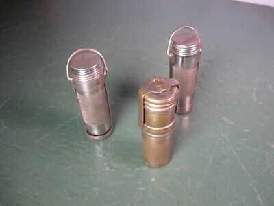 OLD USED VINTAGE MATCH SAFES HOLDERS GROUP OF THREE