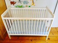 Baby Cot John Lewis Eric, white