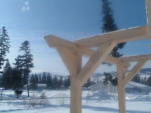Old World Timberframe Pergola kit; 27 piece unstained.
