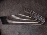 Ping Zing full set irons 3,4,5,6,7,8,9 & W red dot