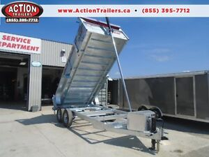 HOT DIPPED GALVANIZED 16' DUMP TRAILER BY N&N  CANADIAN MADE -