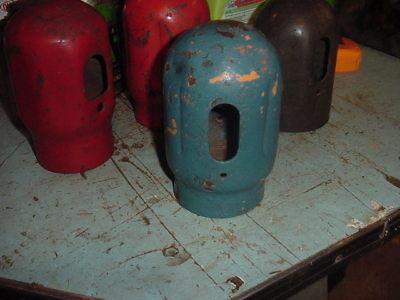 Vtg Oxygen Acetylene Tank Cap Voco Machine Age Decor Chippy Blueorange Paint