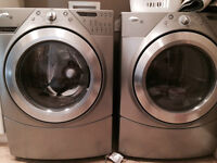Whirlpool Duet HT Washer & Dryer Set (Silver)