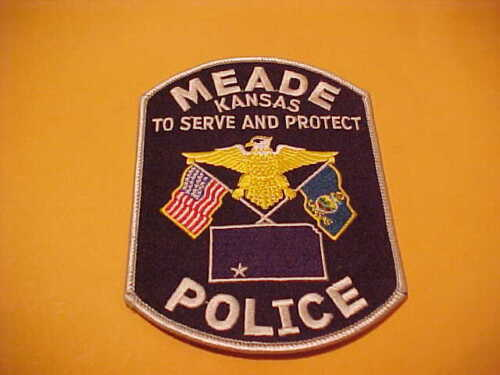MEADE KANSAS POLICE PATCH SHOULDER SIZE UNUSED TYPE 2