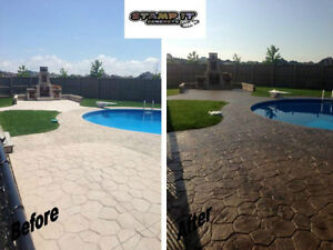 Stamped Concrete Resealing / Restoration And More! London Ontario image 3