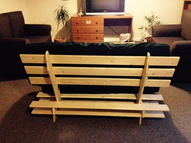 Second Hand Wood Double Futon For Sale In Very Good