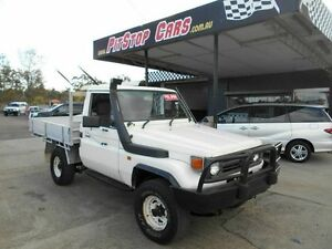 1993 Toyota Landcruiser White 5 Speed Manual Utility Wacol Brisbane South West Preview