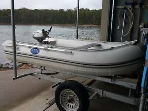 INFLATABLE TENDER DINGY HONDA OUTBOARD 4 STROKE Newcastle Newcastle Area Preview