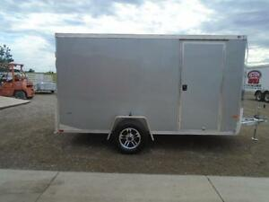 ALL ALUMINUM ENCLOSED 7X12' TRAILER -LIGHT WEIGHT, NO RUST ! London Ontario image 4