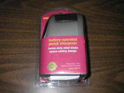 New Staples Slimline Battery Operated Pencil Sharpener