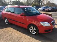 2008 SKODA FABIA ESTATE 1.2 PETROL MANUAL IN RED