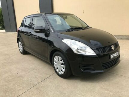 2013 Suzuki Swift FZ GA Hatchback 5dr Auto 4sp 1.4i Black Automatic Hatchback