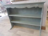 Shabby Chic Welsh Dresser Top Shelf Display Unit In Annie Sloan Duck Egg