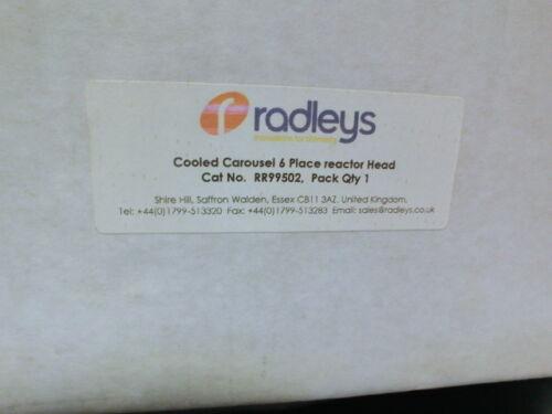 Radleys RR9502 Cooled Carousel 6 place reactor head,Unused.UK$93997