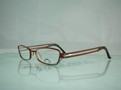 UNIQUE MODEL.. VINTAGE. Eye DC V 456 010 Brown Glasses Eyeglasses Frames Size 50