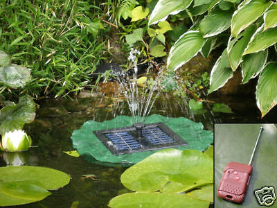 Lily Pad Floating Water Pump Fountain Feature Solar Powered Pond Pool Garden