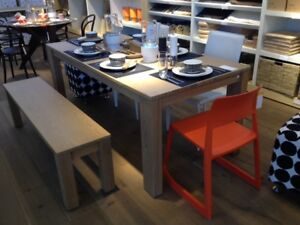 EXCELLENT CONDITION: EQ3 Table and Two Benches