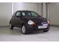 2008 Ford KA 1.3 Zetec Climate 3 Door In Black, Low Mileage, Superb Value