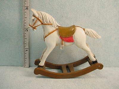 Dollhouse Miniature Rocking Horse  #1.759/0 -1/12th Scale