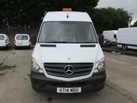 Mercedes-Benz Sprinter 313 CDi MWB High Roof 3.5T Van DIESEL MANUAL WHITE (2014)