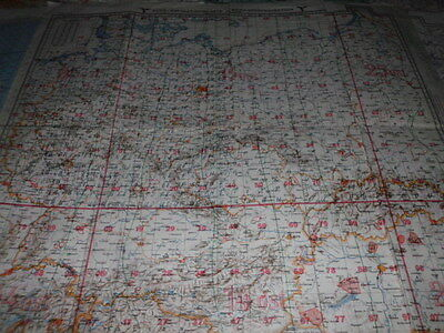 Rare! Luft-Navigationskarte Deutschland 1944  Navigation map of german Luftwaffe