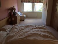 Double bedroom in lovely 3-bed house with a garden in a gated development