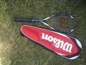 wilson squash racket, K-factor, include cover. Length 27 inch. $