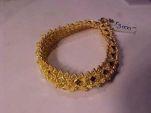 "SOLID ORNATE 24K YELLOW GOLD BRACELET-40.00 Grams-7"" LONG-GREAT INVESTMENT-CONTACT FOR ARRANGEMENTS- LAYAWAY AVAILABLE"