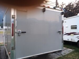 19 foot enclosed v-nose snowmobile trailer