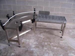 Convoyeur acier inoxydable 90 degrés ------- 90 degrees stainless steel conveyor