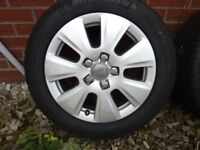 """x4 Audi A3 Alloy Wheels 16"""" with Tyres"""
