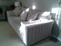 Fabric sofa and 2 chairs