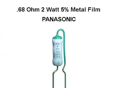 20 Pack 0.68 .68 Ohm 2 Watt 5 Panasonic Radial Metal Film Resistors New