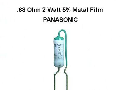 20 Pack 0.68 .68 Ohm 2 Watt 5 Panasonic Radial Metal Film Resistors New