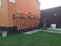 Heavy Duty Solid Steel Garden Gates For Only £45 Used But Nice